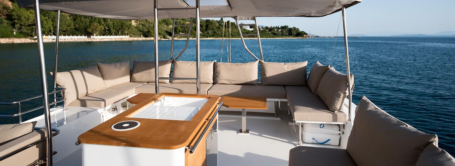 Engine inside a luxury yacht