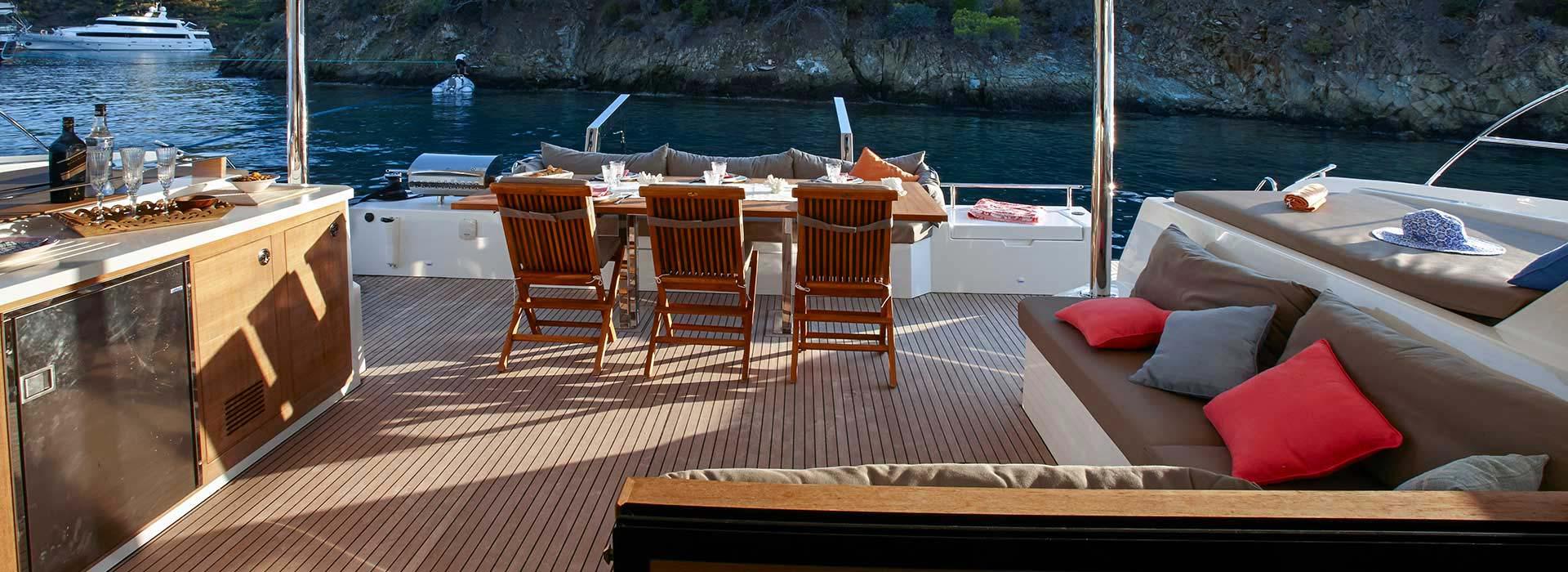 People enjoying their luxury yacht ownership