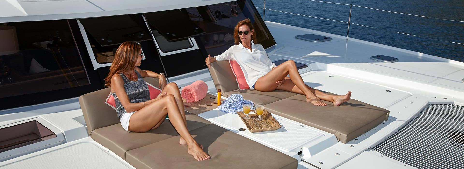 Owner of luxury yacht sailing